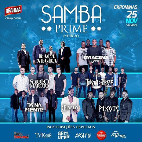 Samba Prime chega à 6ª edição com megaestrutura e maratona de shows