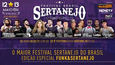 FestivalBrasilSertanejodivulga a programação e inicia a venda de ingressos individuais