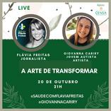 Sucesso nas redes: artista autista Giovanna Cariry participa de live com a jornalista Flávia Freitas