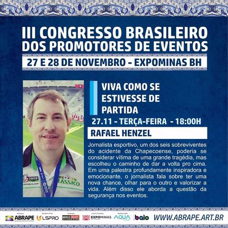 RafaelHenzelrealiza palestra em BH 2 anos após tragédia da Chape