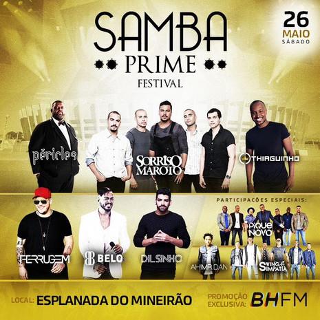 Samba Prime Festival está 100% confirmado para este sábado