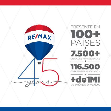 RE/MAX comemora 45 anos de atuação no mercado imobiliário