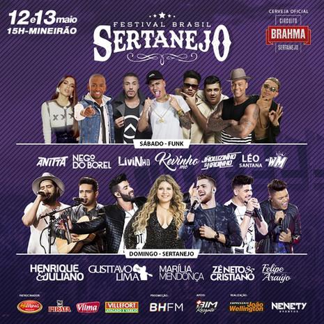 Funk e sertanejo agitam festival no Mineirão neste final de semana