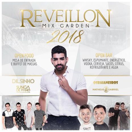 Dilsinho animará o Réveillon Mix Garden 2018