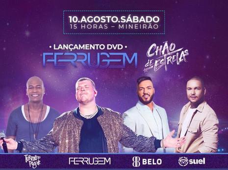 """Ferrugem lança o DVD """"Chão de Estrelas"""" na próxima semana em BH"""