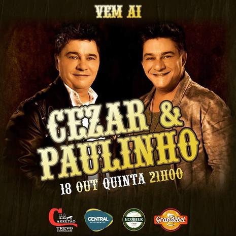 Cezar e Paulinho apresentam show em Contagem