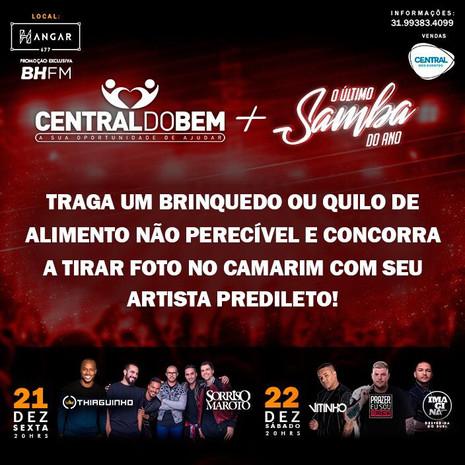 Projeto Central do Bem promove a solidariedade através dos shows