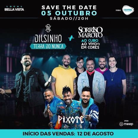 Dilsinho, Sorriso Maroto e Pixote confirmam shows em BH