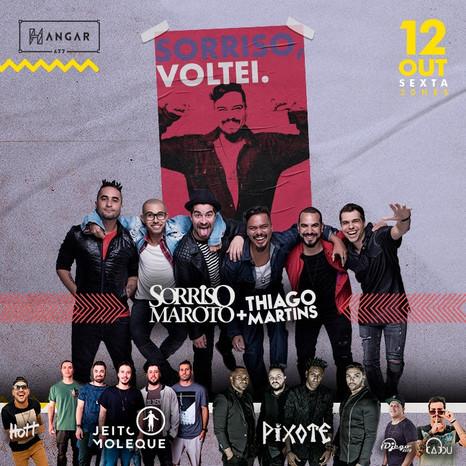 """SorrisoMaroto apresenta show da turnê """"Sorriso, voltei"""" no feriadão em BH"""