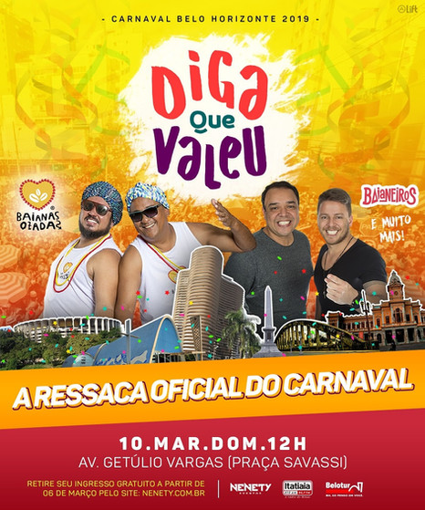 Baianas Ozadas e Baianeiros agitarão o Diga que Valeu - Ressaca Oficial do carnaval de BH
