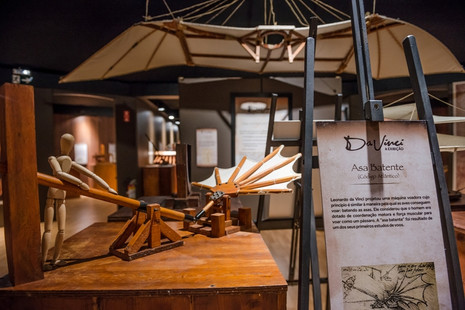 """Shopping Cidade recebe a premiada exposição """"Da Vinci – A exibição""""que traz importantes fatos da hi"""