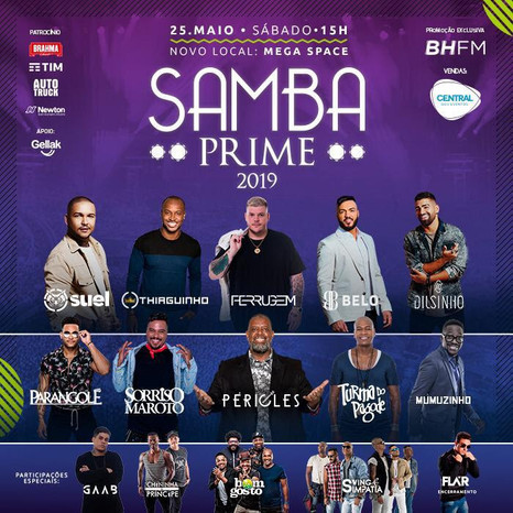 Samba Prime anuncia mais shows, novo local e megaestrutura