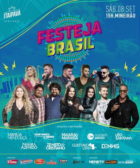 Começam as vendas de ingressos para o Festeja Brasil em BH