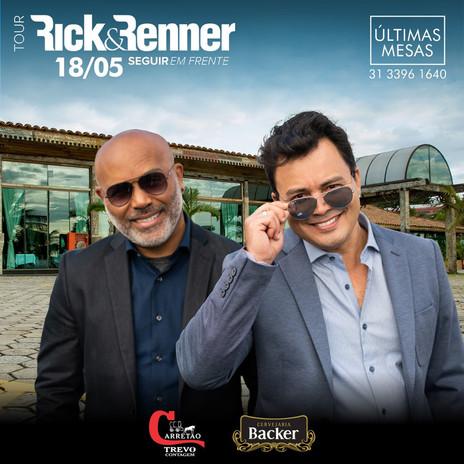 Rick & Renner se apresentam em Contagem neste sábado