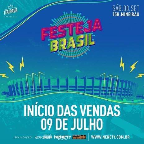 Confirmado: Belo Horizonte sedia oFestejaBrasilem setembro