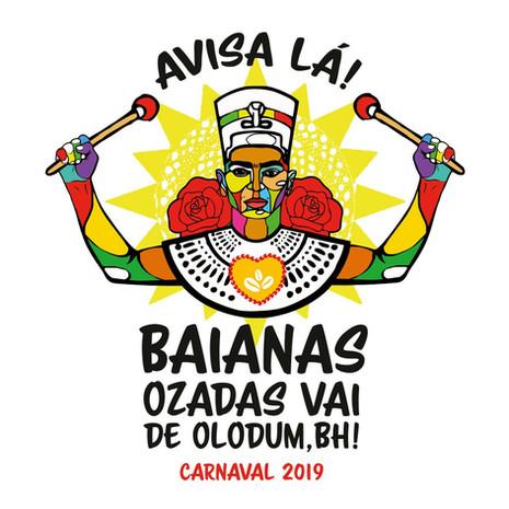 Baianas Ozadas faz homenagem ao Olodum na segunda-feira de carnaval
