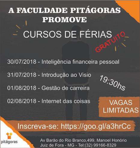 Faculdade Pitágoras – Unidade Juiz de Fora promove curso gratuito sobre inteligência financeira