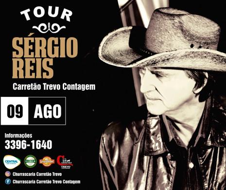 Sérgio Reis apresenta show em Contagem no dia 09 de agosto
