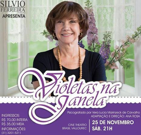 """Vida após a morte é tratada no espetáculo """"Violetas na Janela"""" com única apresentação em BH"""