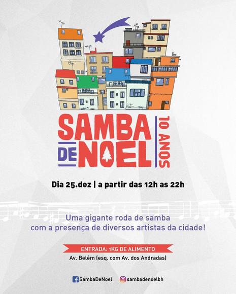Samba de Noel completa 10 anos de confraternização beneficente