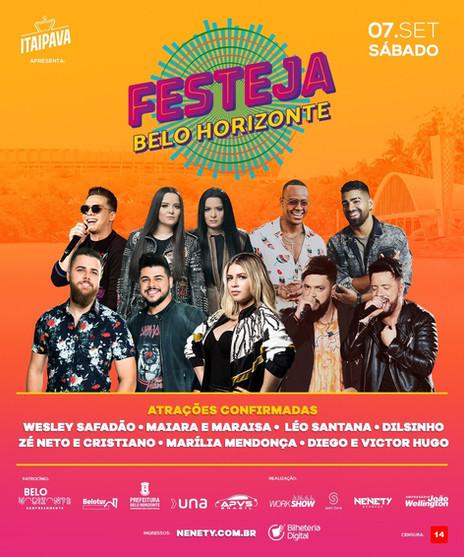 Festeja Belo Horizonte 2019 é confirmado para setembro e anuncia atrações