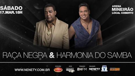 Torcedor do Cruzeiro tem 30% de desconto no show doRaçaNegrae Harmonia do Samba