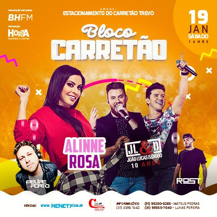 Bloco Carretão agita o pré-carnaval em Contagem