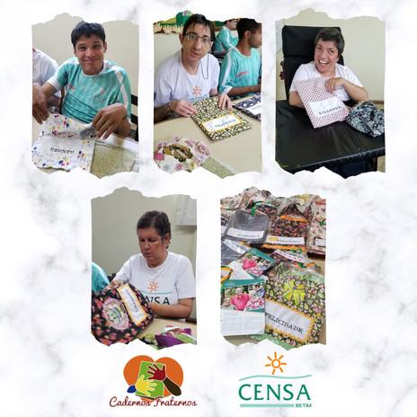 Educandos do CENSA Betim produzem cadernos para crianças da África