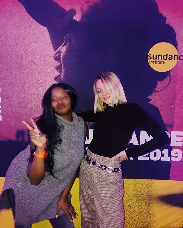 Sundance with Fellow Director and friend, Sage Bennett