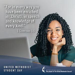 United Methodist Student Day