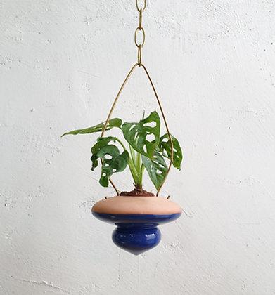 terracotta Hanging Planter  #S Blue