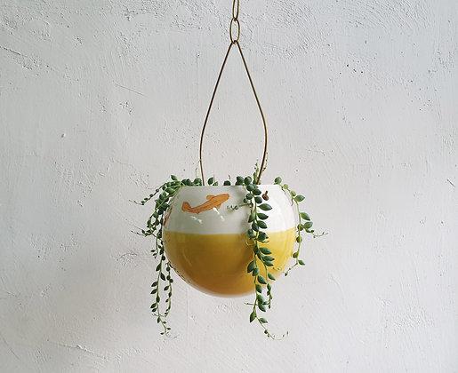 Hanging Planter - L Ocher Koi