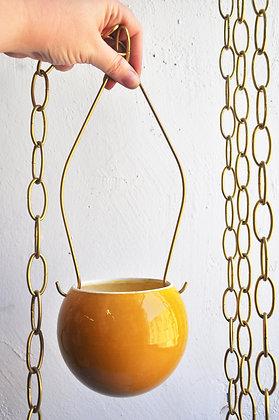 Hanging Planter  - S  Ball Shape #ocher