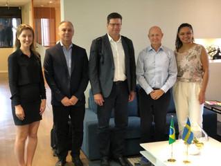Visita à Câmara de Comércio da Suécia