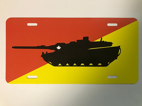 Armoured Leopard Tank License Plate
