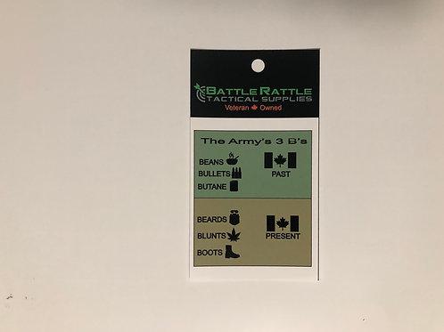 The 3 B's Sticker