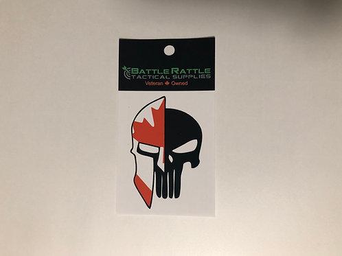 Canadian Spartain/Punisher Sticker