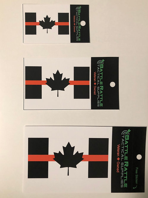 Thin Red Line Canada Flag Sticker