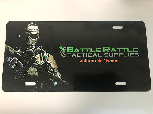 Battle Rattle License Plate