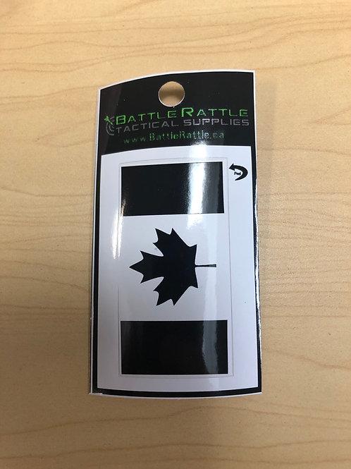 Canadian Flag Black Sticker