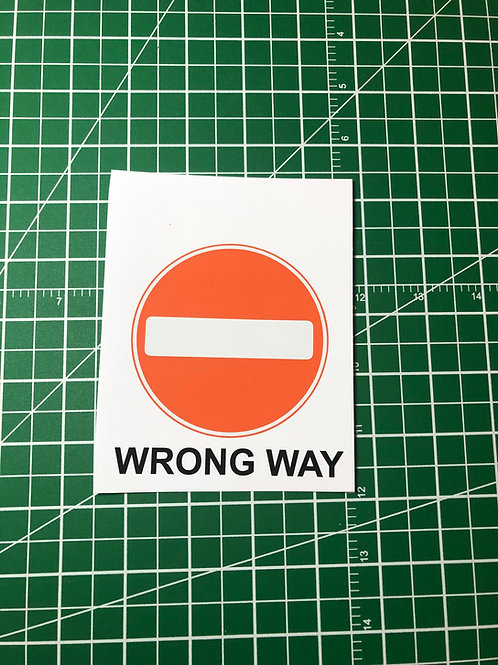 Wrong Way Social Distancing Signage