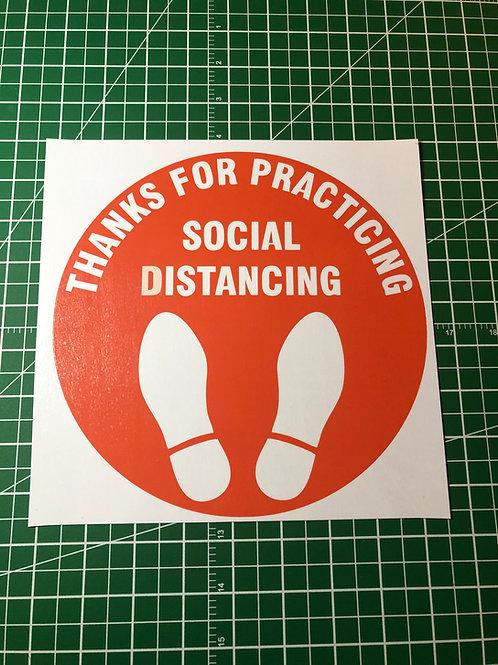 Foot Prints Social Distancing Signage