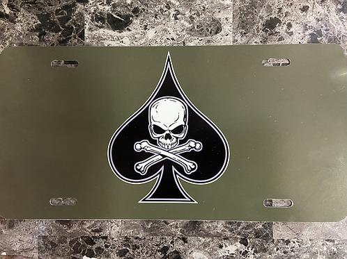 Death Spade License Plate