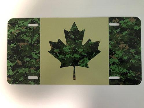 Canadian Digital Canada Flag License Plate