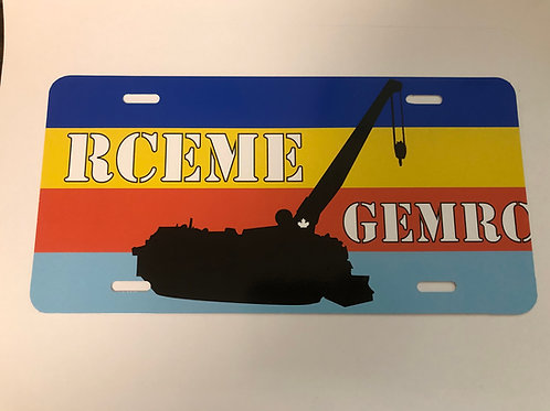 RCEME / GEMRC ARV License Plate