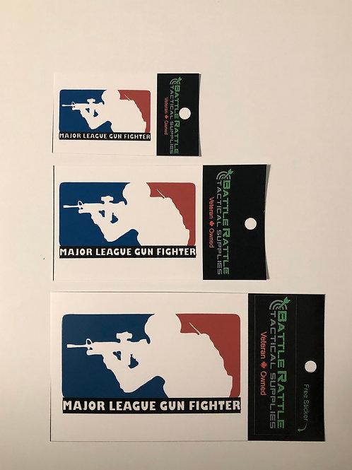 Major League Gun Fighter Sticker