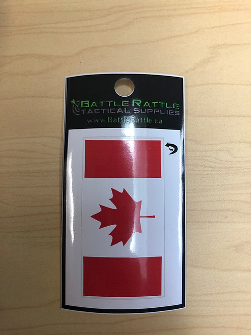 Canadian Flag Red Sticker