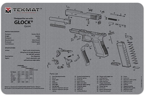 Tactical Innovations Glock Firearms Cleaning Mat (Grey)
