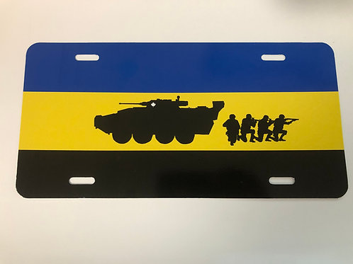 Infantry License Plate