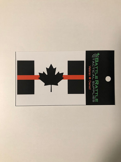 Thin Red Line Canada Flag Sticker